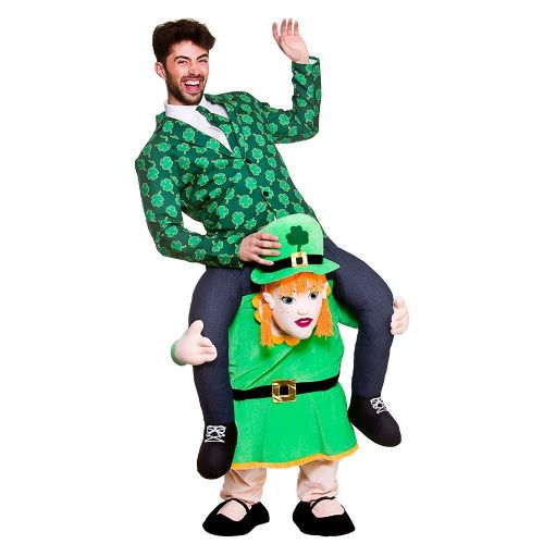 Adults Carry Me - Leprechaun Lass Costume Unisex Fancy Dress